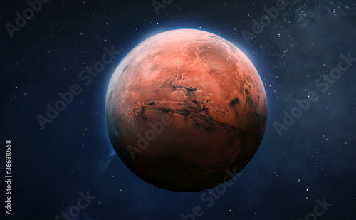 Fotografia Red planet Mars surface