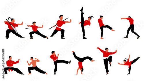 Canvas Print Martial Arts Fighting Positions