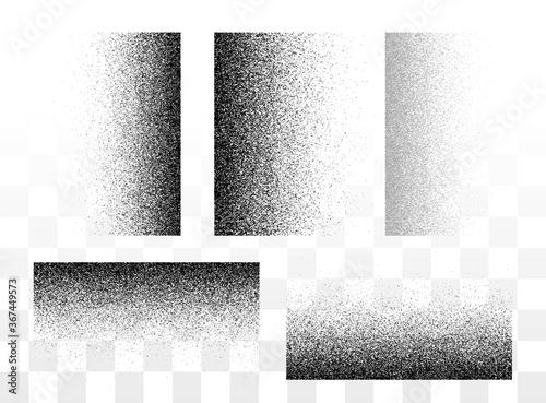 Fotografija Grunge gradient spray horizontal and vertical textures set or stipple grainy tra