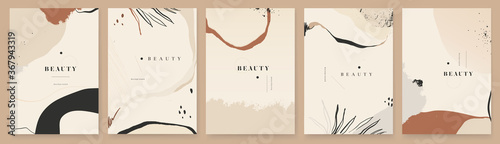 Fotografie, Tablou Abstract trendy universal artistic background templates