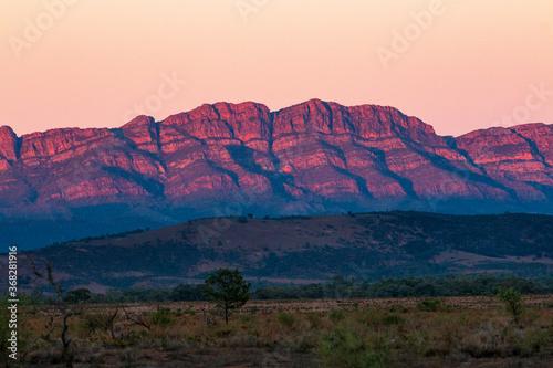 Canvas Print Sunrise on mountain range