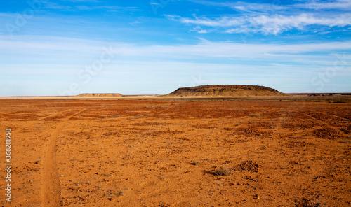 Canvas Print hills in desert landscape