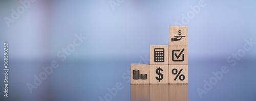 Cuadros en Lienzo Concept of loan