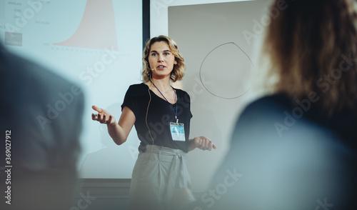 Canvas Print Business leadership conference speaker