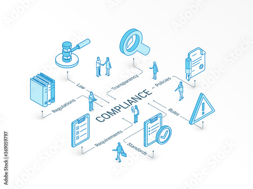 Compliance isometric concept Fototapeta