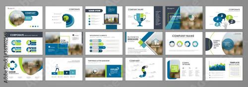 Brochure layout design template set