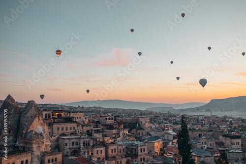 Canvas Hot air balloon rides in Cappadocia at sunrise