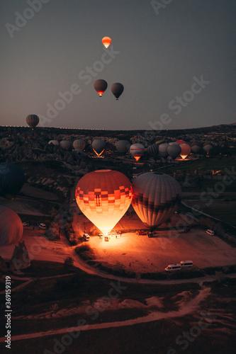 Wallpaper Mural Hot air balloon rides in Cappadocia at sunrise