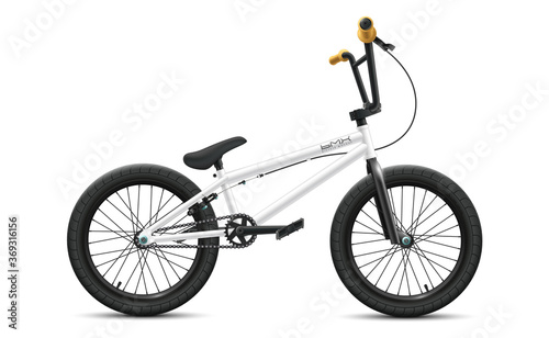 Obraz na plátně BMX bicycle mockup - right side view