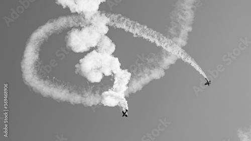 Leinwand Poster combat aérien, noir et blanc