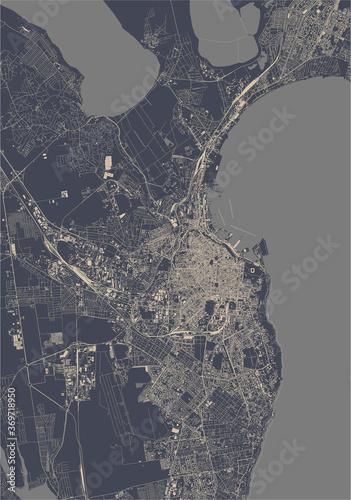 Obraz na plátně map of the city of Odessa, Odessa Oblast, Ukraine