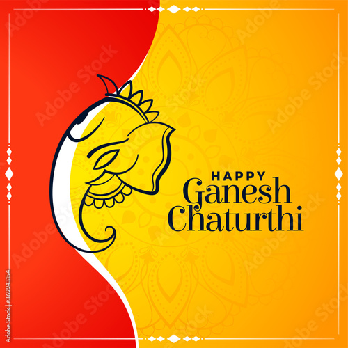 Photo creative wishes card for ganesh chaturthi festival