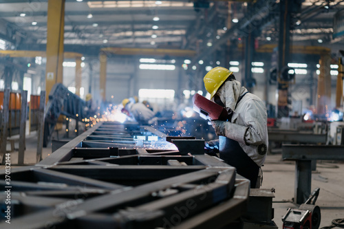 worker working in factory Fototapet