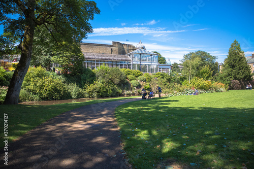 Photo View of Pavilion Gardens, Buxton, Derbyshire, UK
