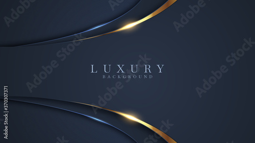 Dark and gold abstract background luxury shapes. Vector illustration.