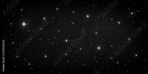 A high quality background galaxy illustration with stardust and bright shining stars illuminating the space.