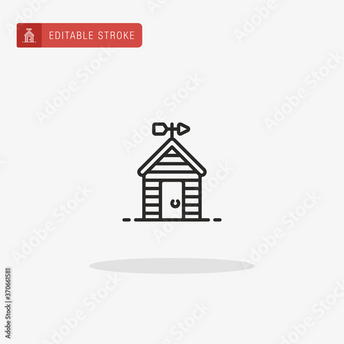 Cuadros en Lienzo Shed icon vector. Shed icon for presentation.