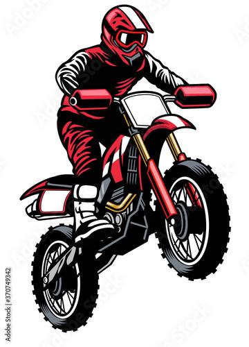 Wallpaper Mural jumping rider riding the motocross