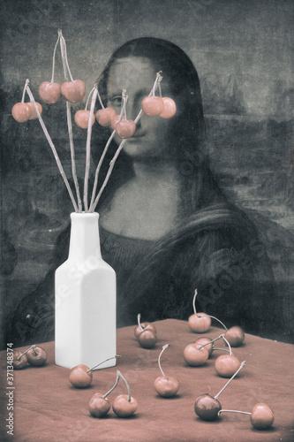 Fototapeta Still life At the table with Mona Lisa