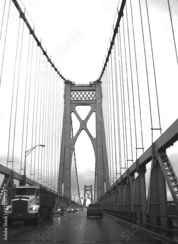 Obraz na plátne The Mid Hudson Bridge, which passes over the Hudson River, in New York