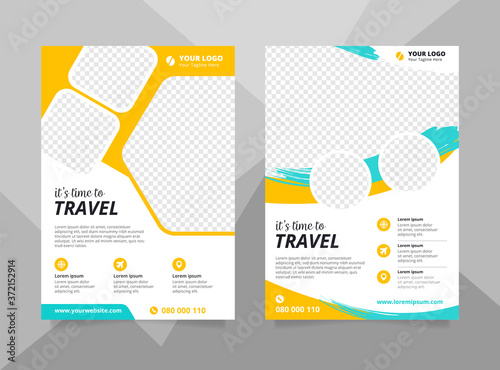 Stampa su Tela Vacation travel brochure flyer design template