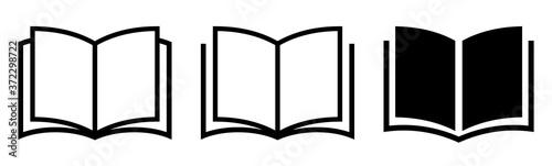 Book icon set. Simple book symbol. Vector