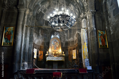 Obraz na plátně Armenia Geghard Monastery Altar