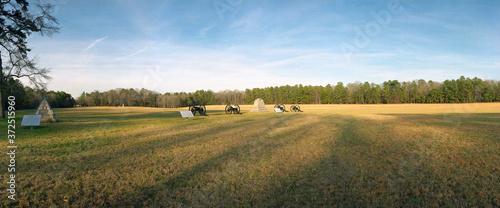 Leinwand Poster Artillery fields, Chickamauga Naationl battlefield, GA