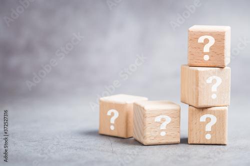 Fototapeta Question Wood Blocks