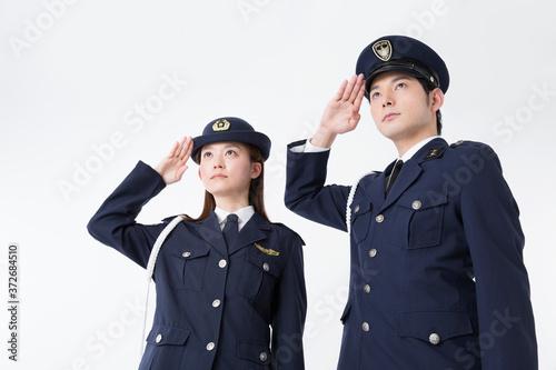 Fotografia 敬礼をする警察官