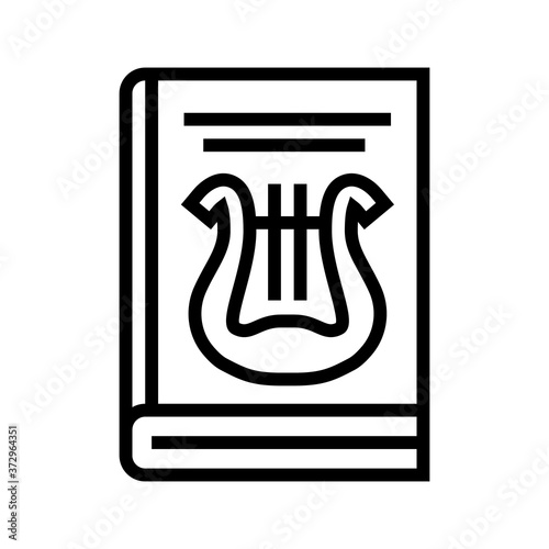 Canvas Print folklore genre line icon vector