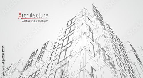 Fotografiet Architecture line background