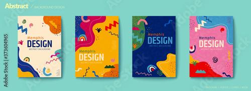 Fotografia Vivid color abstract flyer set