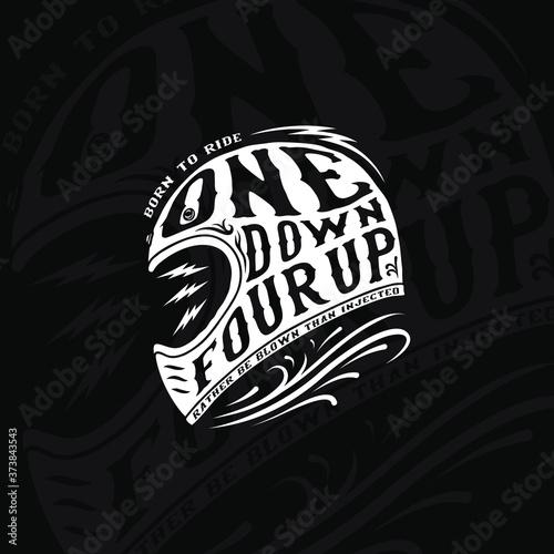 Fotografia Vintage Motorcycle Quotation Tshirt Design Illustration