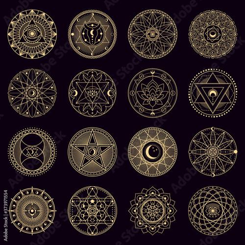 Fototapeta Mystery spell circle