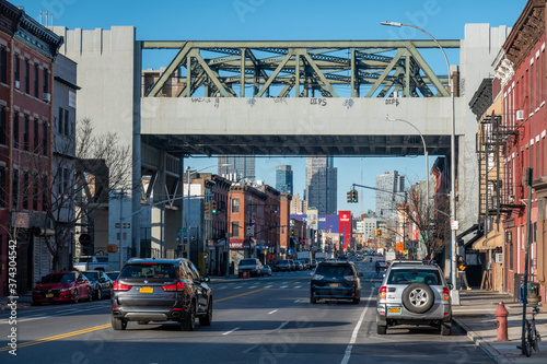 Smith-Ninth Streets is a local station on the IND Culver Line of the New York City Subway in the Gowanus neighborhood of Brooklyn Fototapete