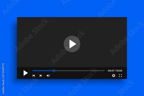 Carta da parati clean video player template with simple buttons