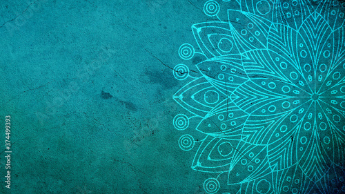 Fotografie, Obraz turquoise mandala