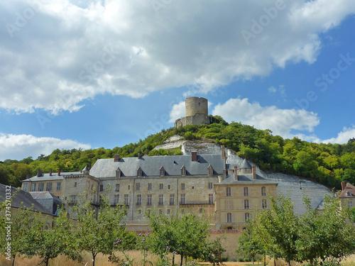 Canvas Print France, Ville de la Roche-Guyon dans le Val d'Oise