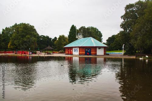 Fotografia Derby UK August  29, 2020:The Pavilion at  Mundy Play Centre  Markeaton Park  Derby UK