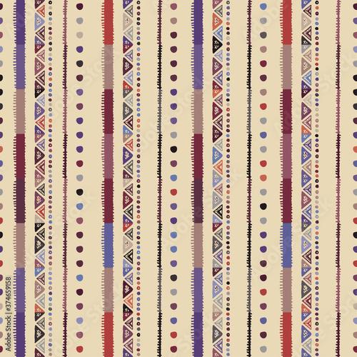 Fototapeta Ethnic seamless pattern in native style