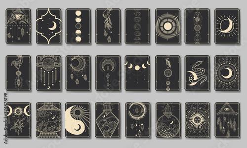 Fotografia Set of decorative tarot cards