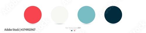 Photo Trendy Pantone color palette 2021 for fashion, home, interiors design, web desig