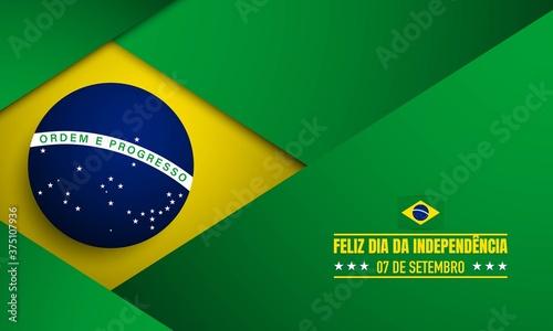 Fotografia, Obraz Brazil Independence Day Background.