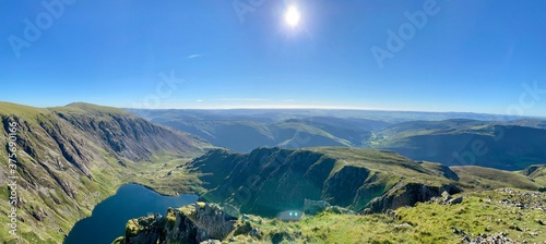 Photo Cadair Idris mountain in North Wales, part of Snowdonia National Park and close