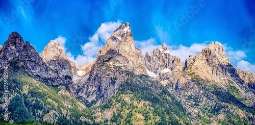 grand teton national park morning in wyoming Fototapet