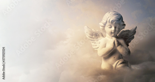 Canvas Print Guardian angel on the cloud