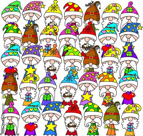 Fotografie, Obraz vector cartoon seven dwarfs picture