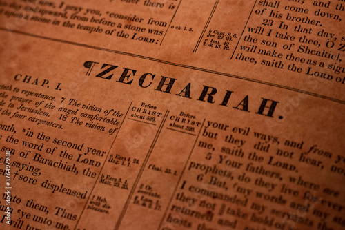 Canvas Print Zechariah
