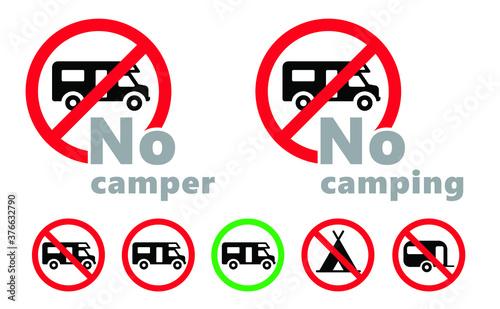 Fotografering No camper